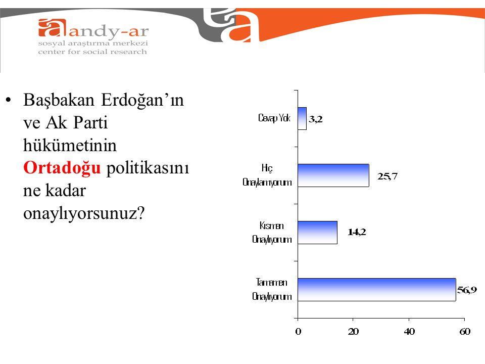 Başbakan Erdoğan'ın ve Ak Parti hükümetinin Ortadoğu politikasını ne kadar onaylıyorsunuz?