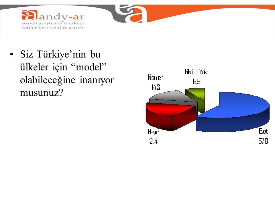 """Siz Türkiye'nin bu ülkeler için """"model"""" olabileceğine inanıyor musunuz?"""