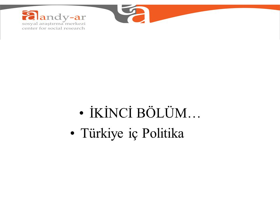 İKİNCİ BÖLÜM… Türkiye iç Politika
