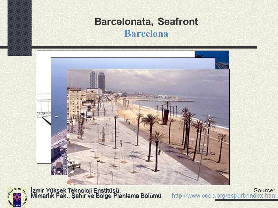Barcelonata, Seafront Barcelona İzmir Yüksek Teknoloji Enstitüsü, Mimarlık Fak., Şehir ve Bölge Planlama Bölümü Source: http://www.cccb.org/espurb/ind