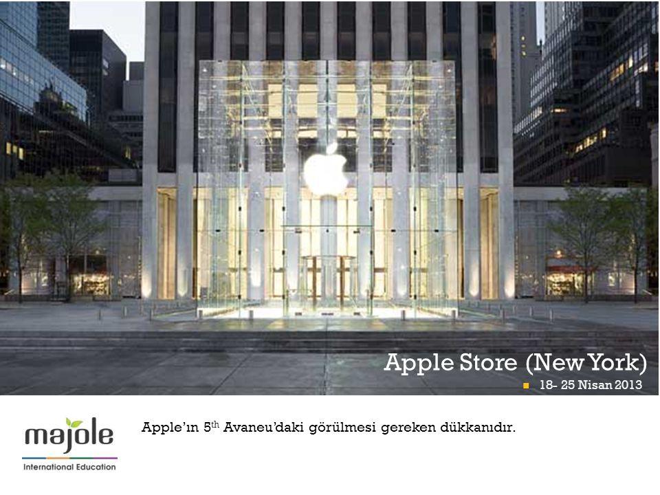 + Apple Store (New York) 18- 25 Nisan 2013 Math Midway At Momath 18- 25 Nisan 2013 Apple'ın 5 th Avaneu'daki görülmesi gereken dükkanıdır.