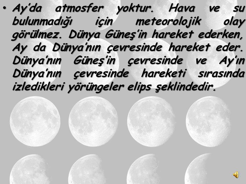AY Dünya'nın tek uydusu ve ona en yakın gök cismidir. Ay, büyüklüğü Dünya'nın 50 de biri kadardır. Dünya'nın tek uydusu ve ona en yakın gök cismidir.