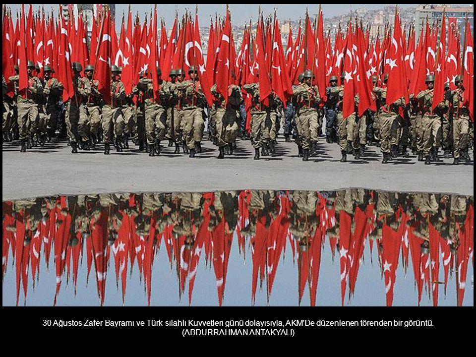 30 Ağustos Zafer Bayramı ve Türk silahlı Kuvvetleri günü dolayısıyla, AKM De düzenlenen törenden bir görüntü.