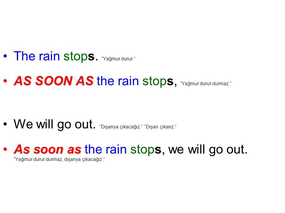 The rain stops.