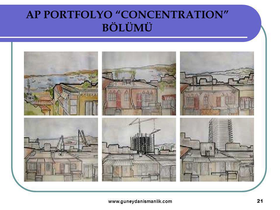 "AP PORTFOLYO ""CONCENTRATION"" BÖLÜMÜ 21 www.guneydanismanlik.com"