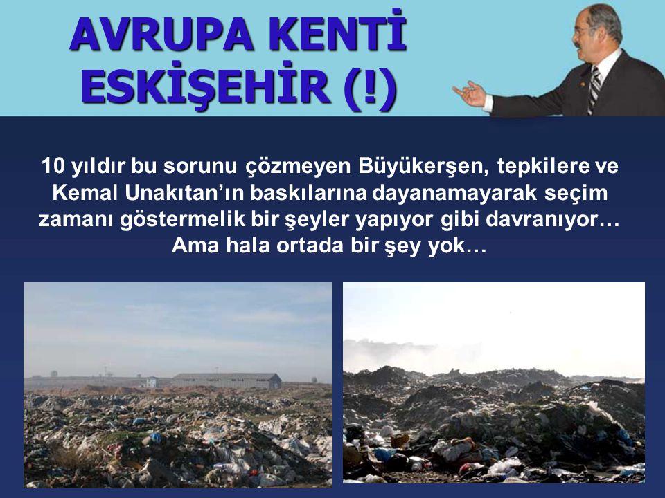 AVRUPA KENTİ ESKİŞEHİR (!) Eskişehir'in kanayan en büyük yarası: PORSUK… Seçim vaatlerinde Porsuk'un kirliliğine çözüm bulacağını söyleyen Büyükerşen Porsuk Islah Projesi için 80 milyon euro harcadı.