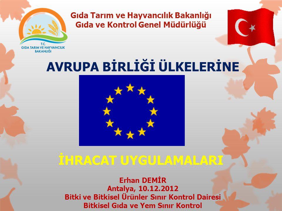 Gıda Tarım ve Hayvancılık Bakanlığı Gıda ve Kontrol Genel Müdürlüğü GKGMBSK-ED2012