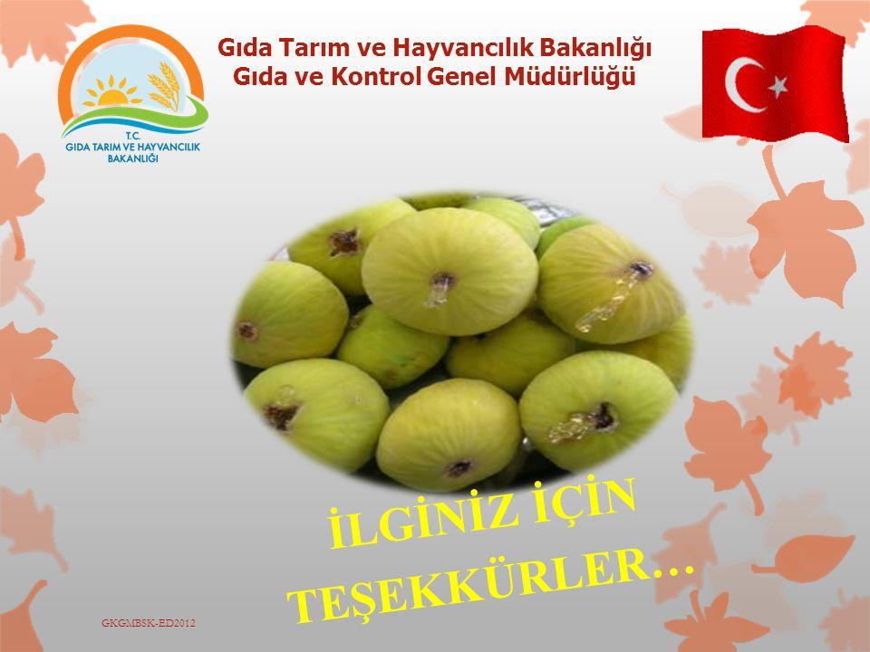 Gıda Tarım ve Hayvancılık Bakanlığı Gıda ve Kontrol Genel Müdürlüğü GKGMBSK-ED2012 İLGİNİZ İÇİN TEŞEKKÜRLER…