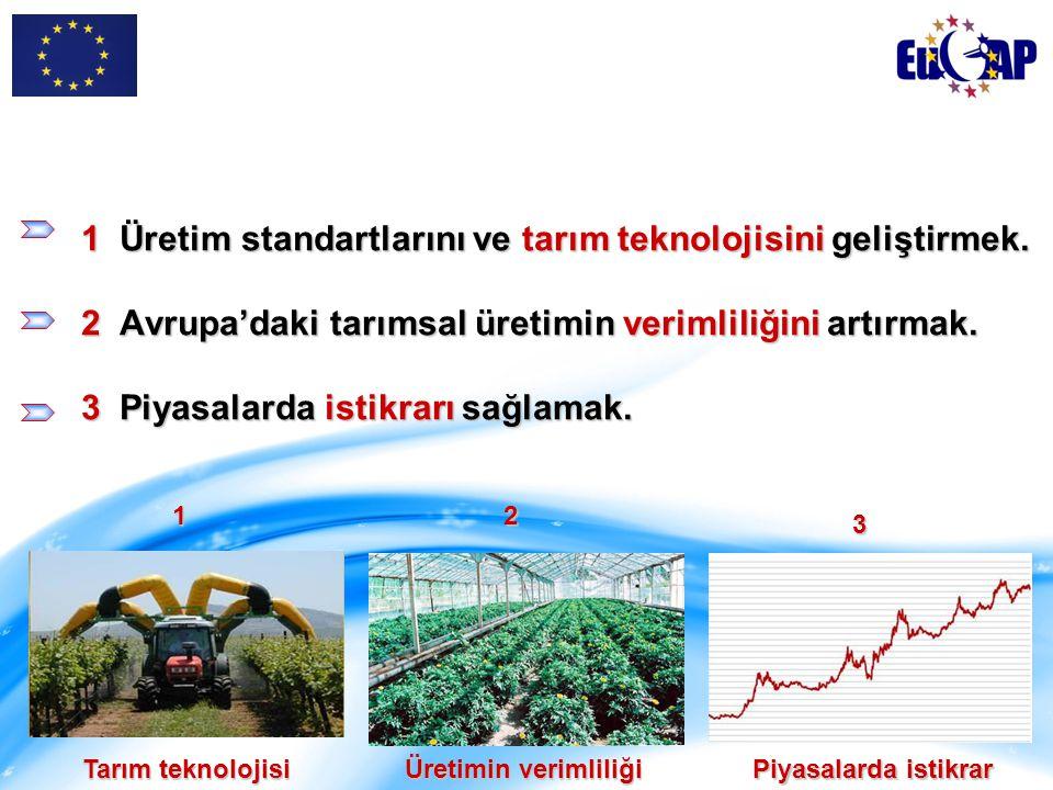 Tarımla uğraşan kesimin gelirini arttırmak.Tüketicilere daha gerçekçi ve uygun fiyatlar sunmak.