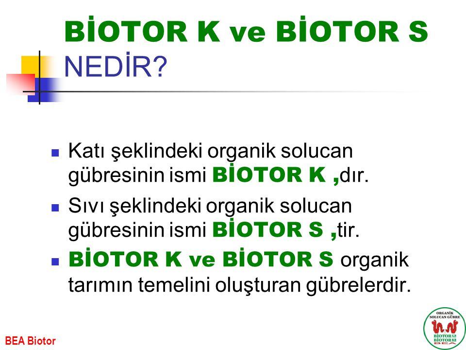 BİOTOR K ve BİOTOR S NEDİR? Katı şeklindeki organik solucan gübresinin ismi BİOTOR K, dır. Sıvı şeklindeki organik solucan gübresinin ismi BİOTOR S, t