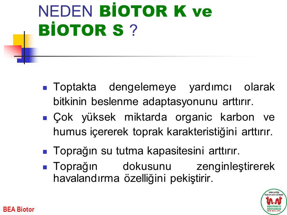 NEDEN BİOTOR K ve BİOTOR S .