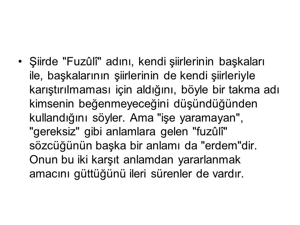 YAŞAMI 1480'de Kerbela'da doğduğu ve 1556'da yine Kerbela'da öldüğü sanılır. Gerçek adı Mehmed b. Süleyman'dır.
