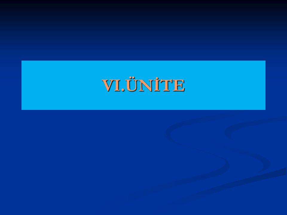 VI.ÜNİTE