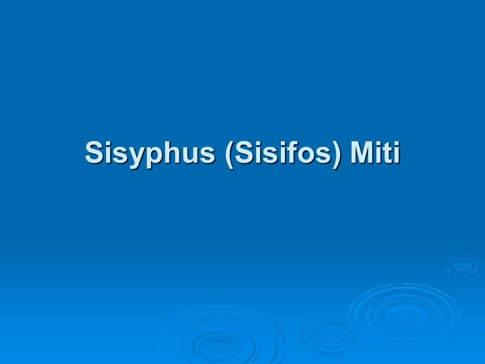 Sisyphus (Sisifos) Miti