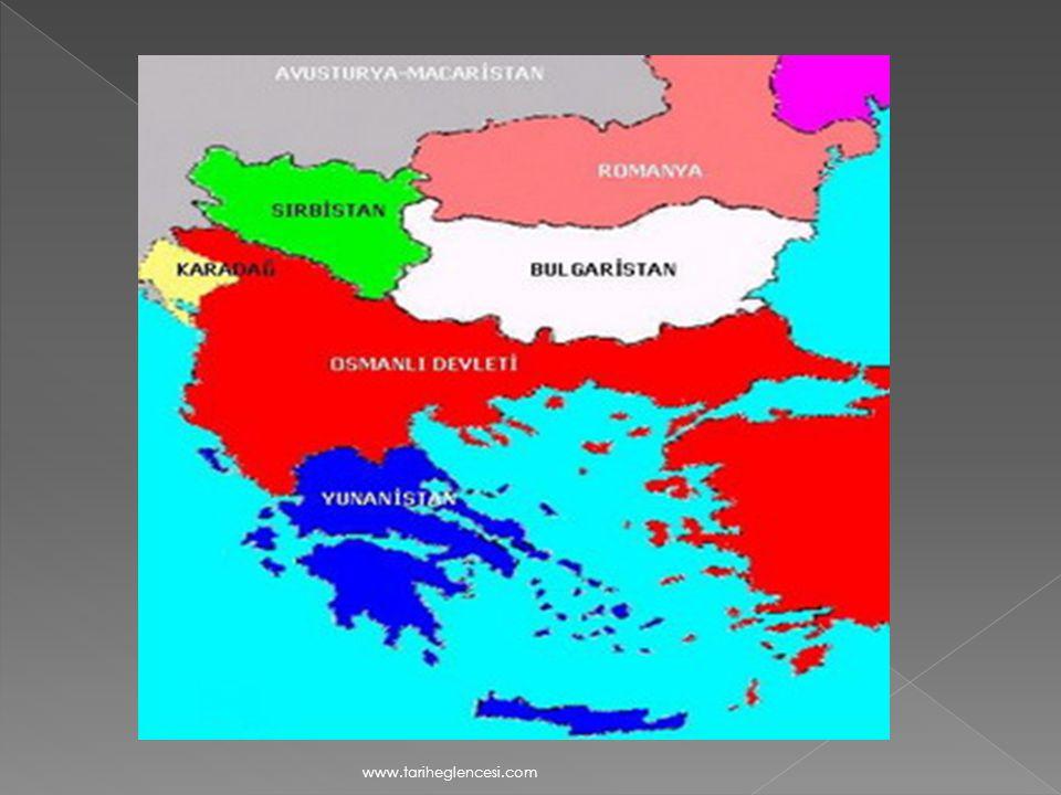 c- Osmanlı Devleti'nin Trablusgarp Savaşıyla uğraşması d- İngiltere'nin Reval Görüşmesinde Rusya'yı Balkanlar ve Boğazlar konusunda serbest bırakması e-Balkan Devletleri'nin Osmanlı' dan toprak koparmak istemeleri www.tariheglencesi.com