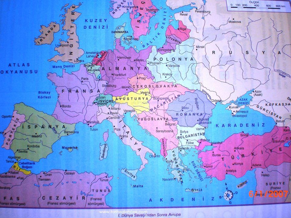 VI.VAHİDETTİN (1918-1922) I.Dünya Savaşı (1914-1918) Mondros Mütarekesi(30 Ekim 1918)- İtilaf Devletleri güvenliklerini tehdit edecek bir durum karşısında istedikleri bir stratejik noktayı işgal edebileceklerdir.(7.madde) Vilayat-ı Sitte'de(altı ilde Erzurum,Van, Harput, Diyarbakır,Bitlis,Sivas) bir karışıklık çıktığında İtilaf Devletleri buraları işgal edebileceklerdir.