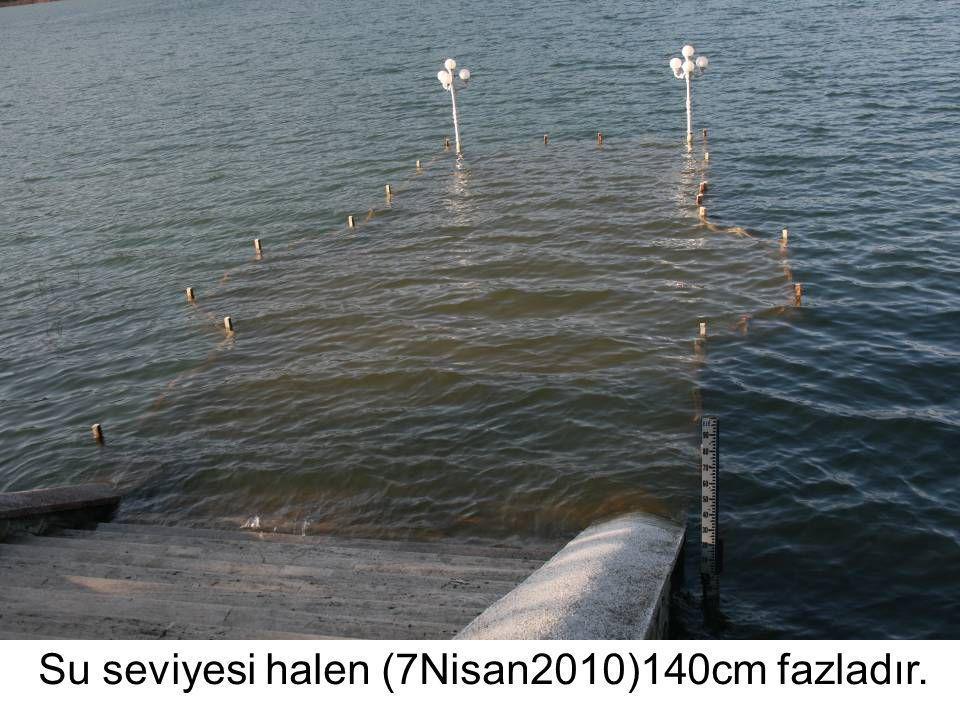 Su seviyesi halen (7Nisan2010)140cm fazladır.