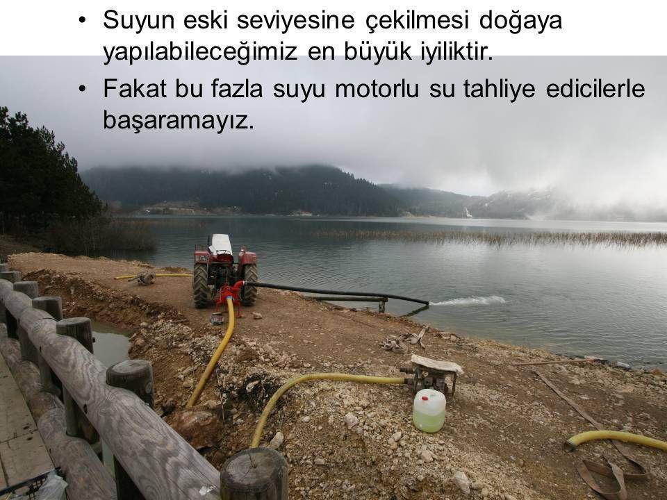 Suyun eski seviyesine çekilmesi doğaya yapılabileceğimiz en büyük iyiliktir. Fakat bu fazla suyu motorlu su tahliye edicilerle başaramayız.