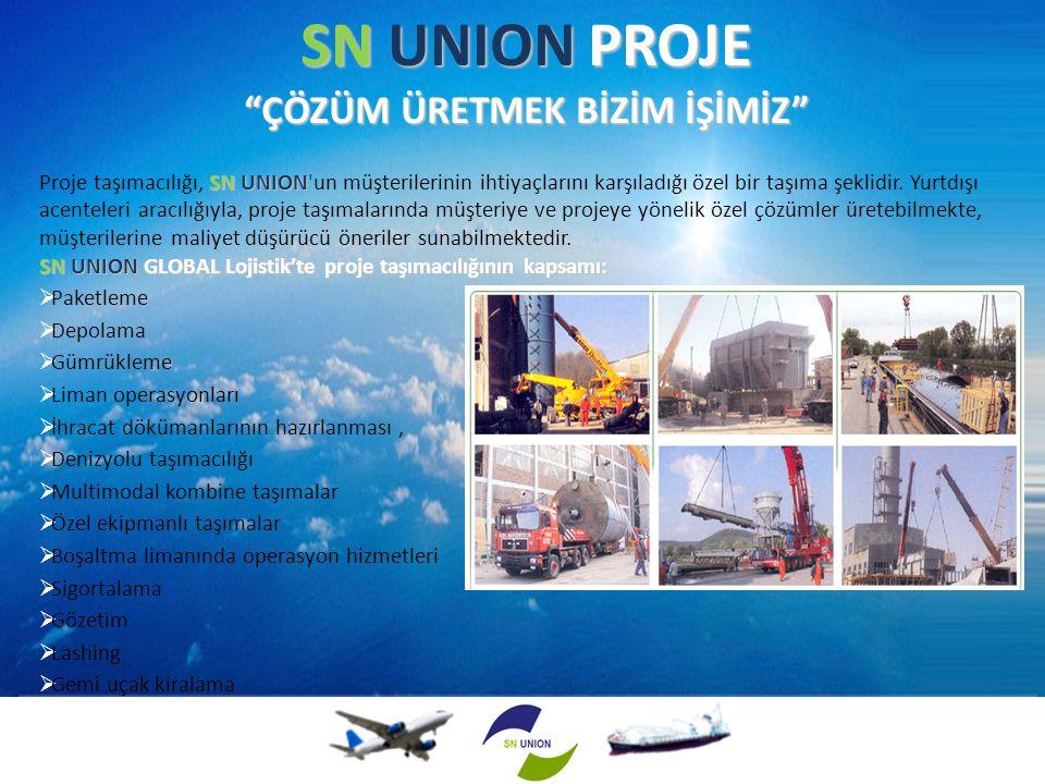 """SN UNION PROJE """"ÇÖZÜM ÜRETMEK BİZİM İŞİMİZ"""" SN UNION Proje taşımacılığı, SN UNION'un müşterilerinin ihtiyaçlarını karşıladığı özel bir taşıma şeklidir"""