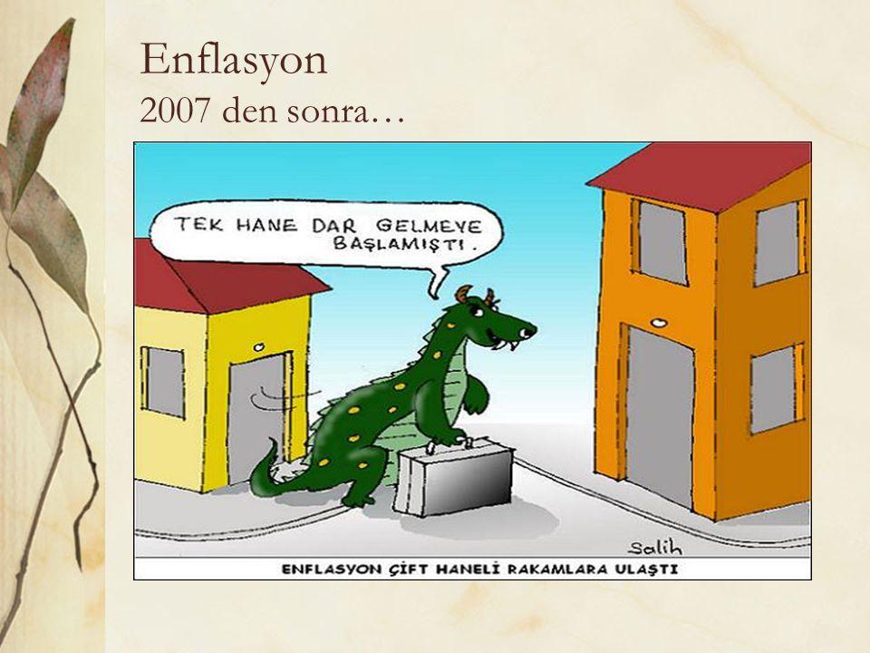 Enflasyon 2007 den sonra…