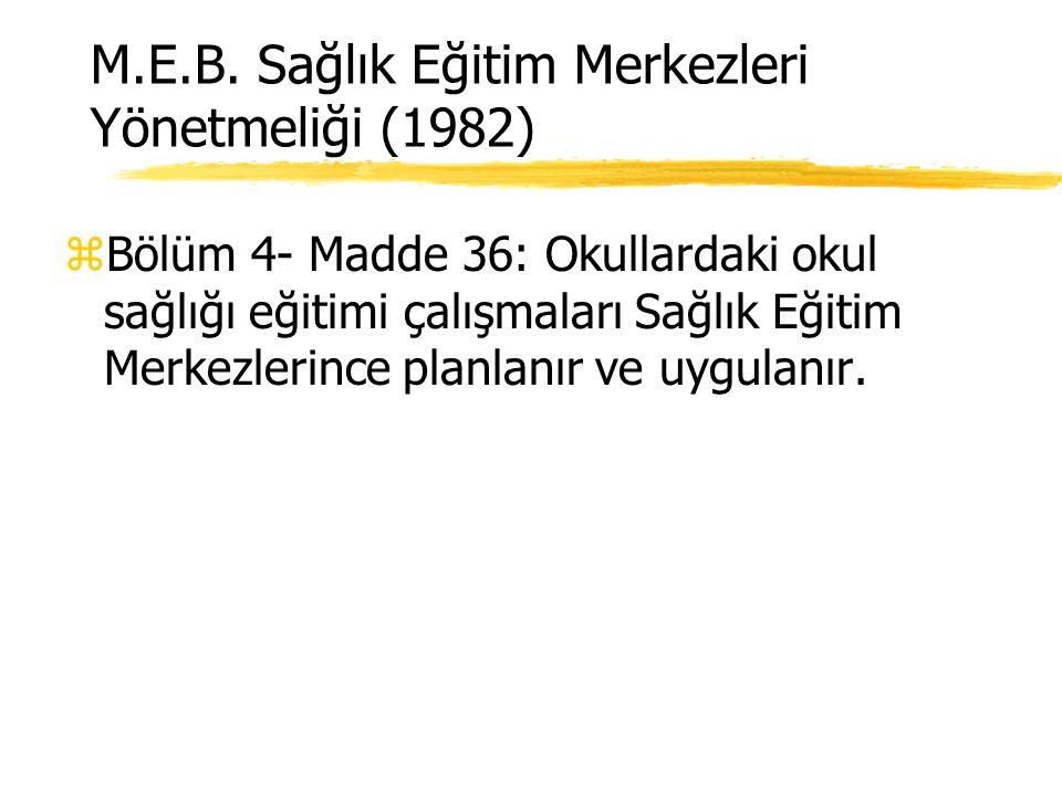Tarihçe z224 Sayılı Sağlık Hizmetlerinin Sosyalleştirilmesi Hakkındaki Kanun'un (12/1/1961) 154 Sayılı Yönergesine göre; sağlık ocaklarının sorumluluğ