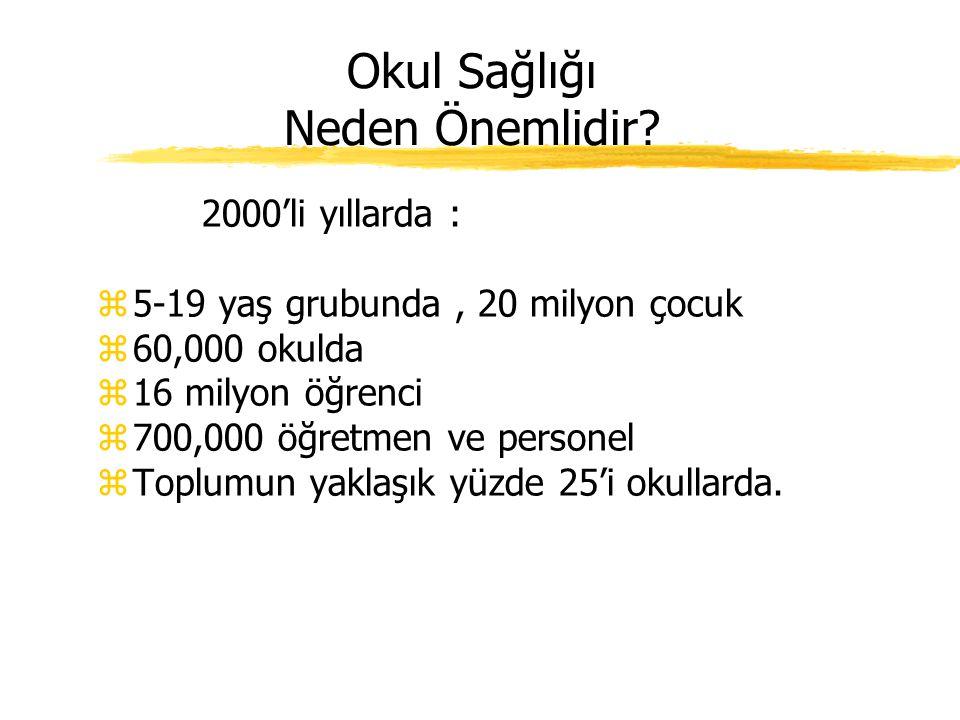 Günümüzde… zTürkiye'de okul sağlığına ilişkin maddeler 2008/58 sayılı genelge ile belirlenmiştir. zBölgesel Sağlık Ocaklarında (SO) görev yapan hekiml