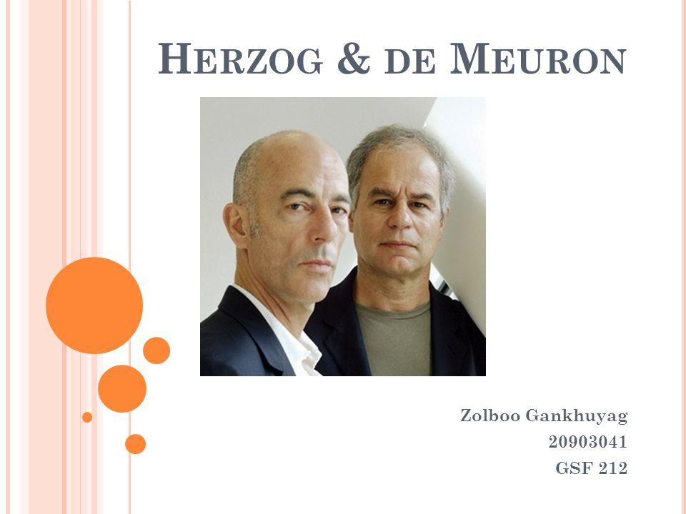 H ERZOG & DE M EURON Zolboo Gankhuyag 20903041 GSF 212