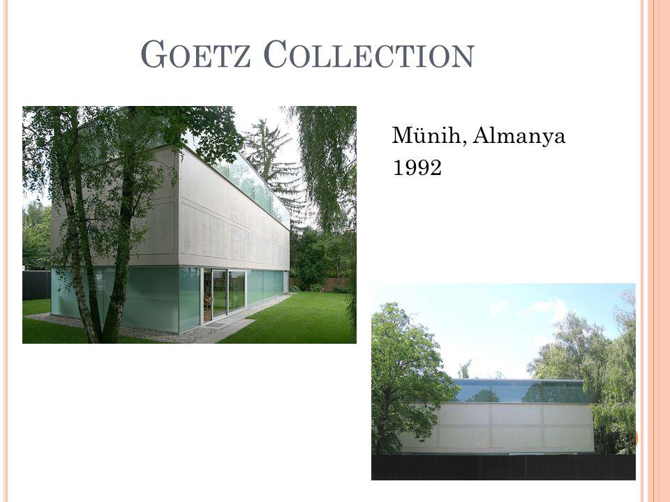 G OETZ C OLLECTION Münih, Almanya 1992