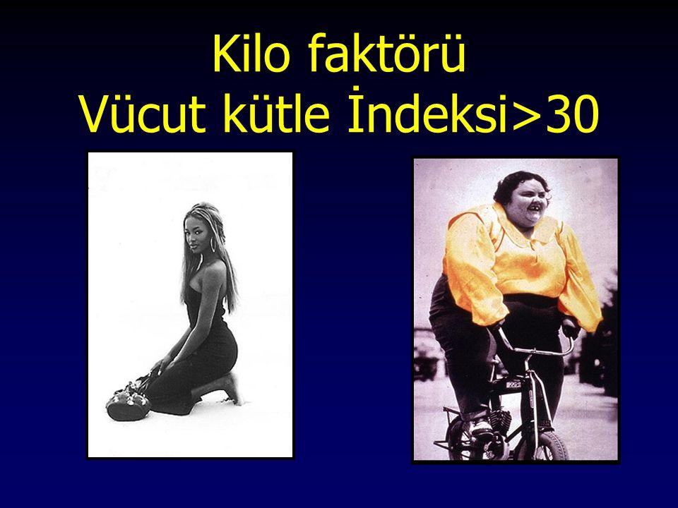 Kilo faktörü Vücut kütle İndeksi>30