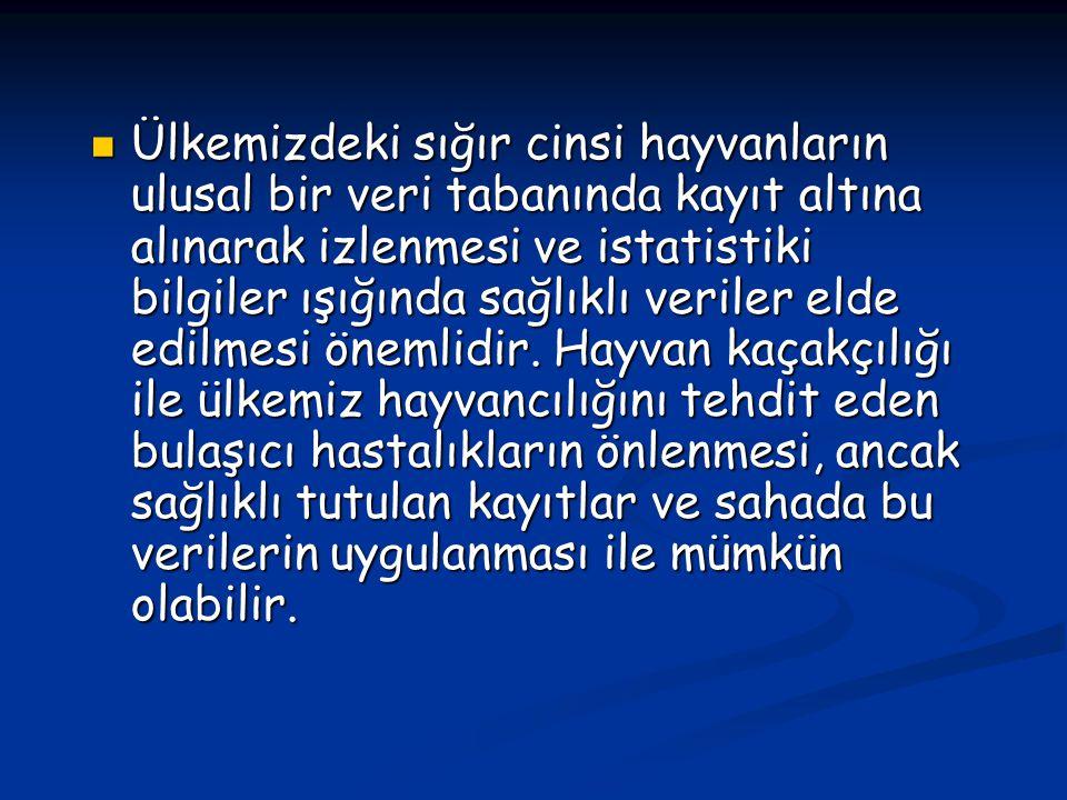 Türkvet Kayıt Sistemine, Avrupa Birliği' nin de istemiş olduğu kriterler eklenmiştir.