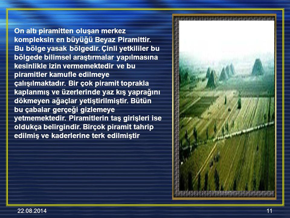 22.08.201411 On altı piramitten oluşan merkez kompleksin en büyüğü Beyaz Piramittir.