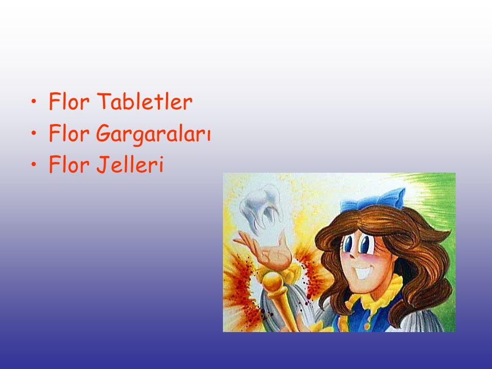 Flor Tabletler Flor Gargaraları Flor Jelleri