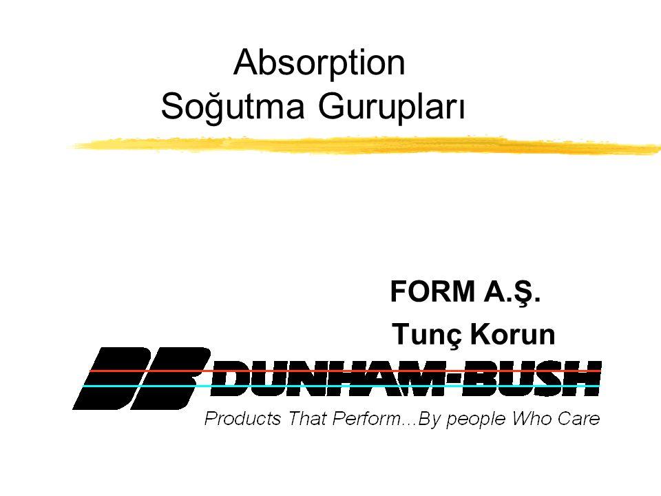 Dunham Bush firması yaklaşık 50 yıla yakın bir geçmişe sahip olup, özellikle büyük kapasiteli ve endüstriyel soğutma uygulamaları ile absorption soğutma gurupları konularında Amerikanın en büyük imalatçılarından biridir.