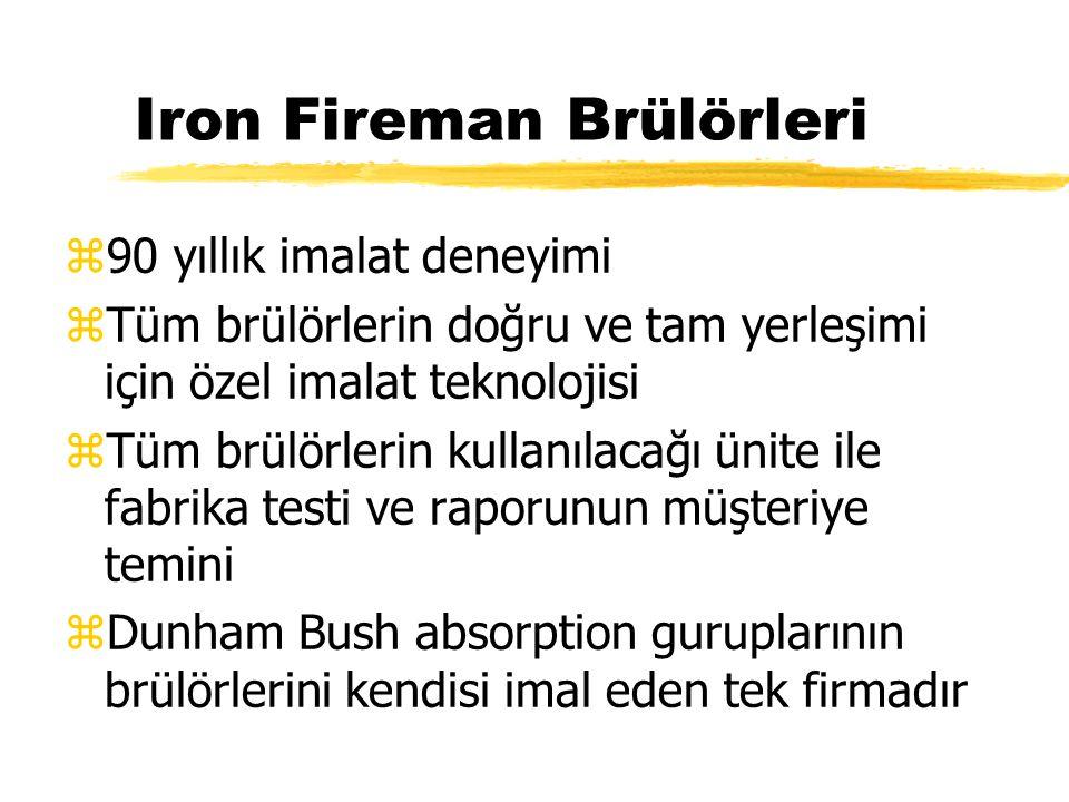 Iron Fireman Brülörleri z90 yıllık imalat deneyimi zTüm brülörlerin doğru ve tam yerleşimi için özel imalat teknolojisi zTüm brülörlerin kullanılacağı