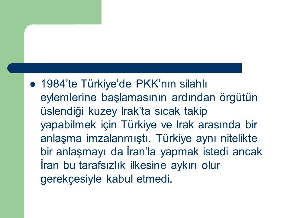 1984'te Türkiye'de PKK'nın silahlı eylemlerine başlamasının ardından örgütün üslendiği kuzey Irak'ta sıcak takip yapabilmek için Türkiye ve Irak arası