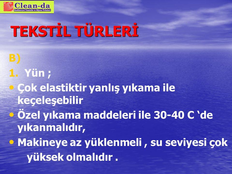 TEKSTİL TÜRLERİ B) PROTEİN BAZLI DOĞAL ELYAFLAR Ortak özellikleri hidrofob (ıslatılması güç)yapıda olmalarıdır 1.
