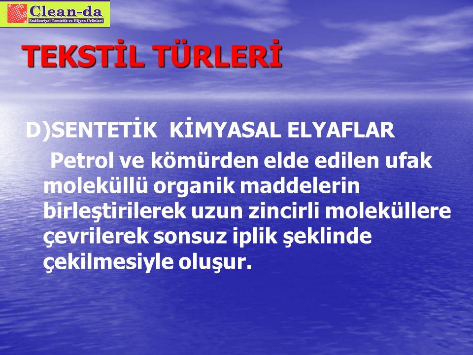 TEKSTİL TÜRLERİ B) PROTEİN BAZLI DOĞAL ELYAFLAR 2.