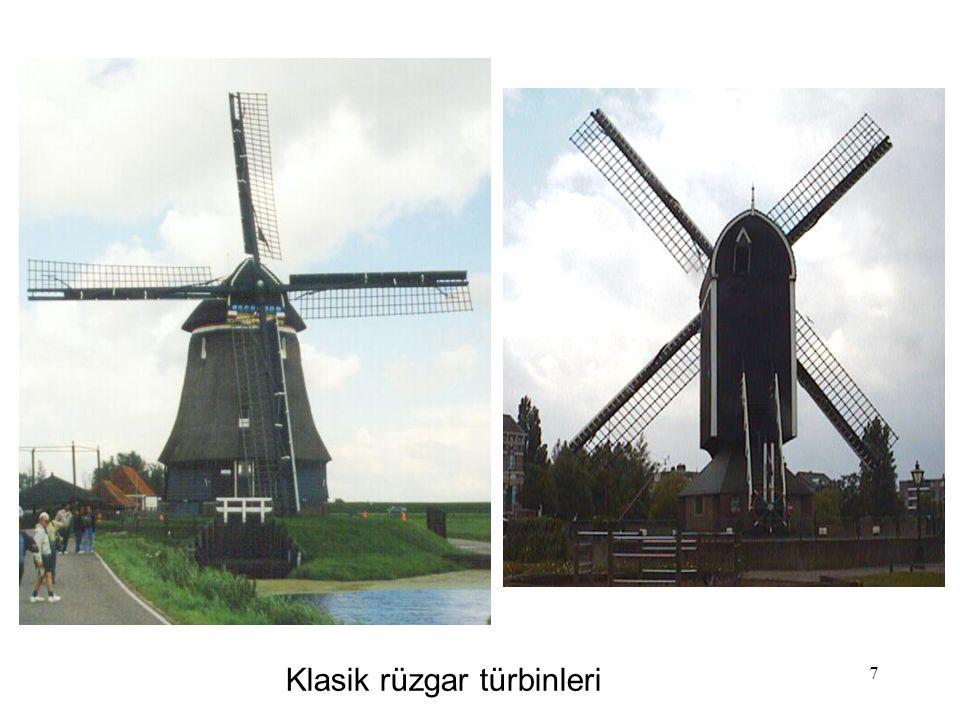 7 Klasik rüzgar türbinleri