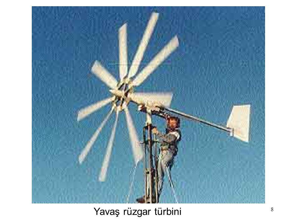 8 Yavaş rüzgar türbini