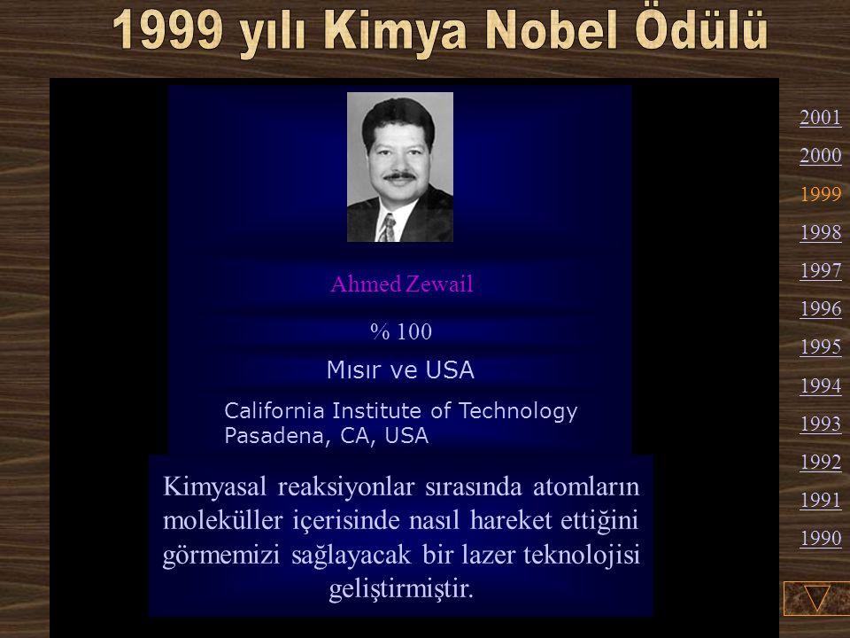 Alan J. Heeger :1936'da ABD'de doğdu (Amerikan vatandaşı). Şu an fizik profesörü ve California Üniversitesi'ndeki polimer ve Organik Maddeler Enstitüs