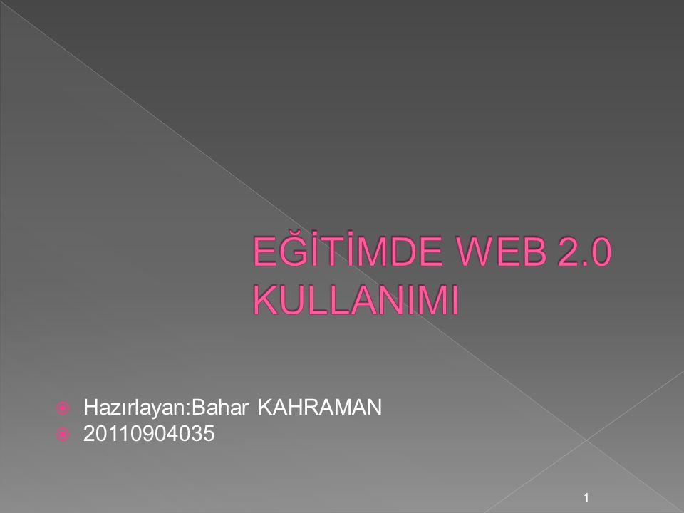  Hazırlayan:Bahar KAHRAMAN  20110904035 1