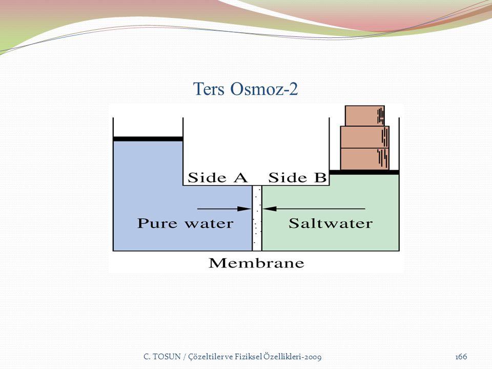 Ters Osmoz-2 C. TOSUN / Çözeltiler ve Fiziksel Özellikleri-2009166