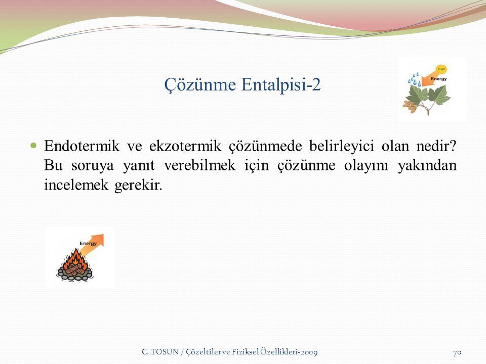Çözünme Entalpisi-2 Endotermik ve ekzotermik çözünmede belirleyici olan nedir.