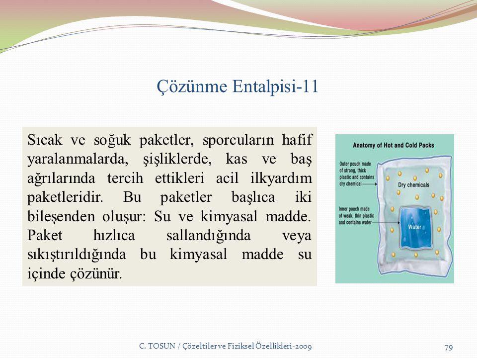Çözünme Entalpisi-11 C.