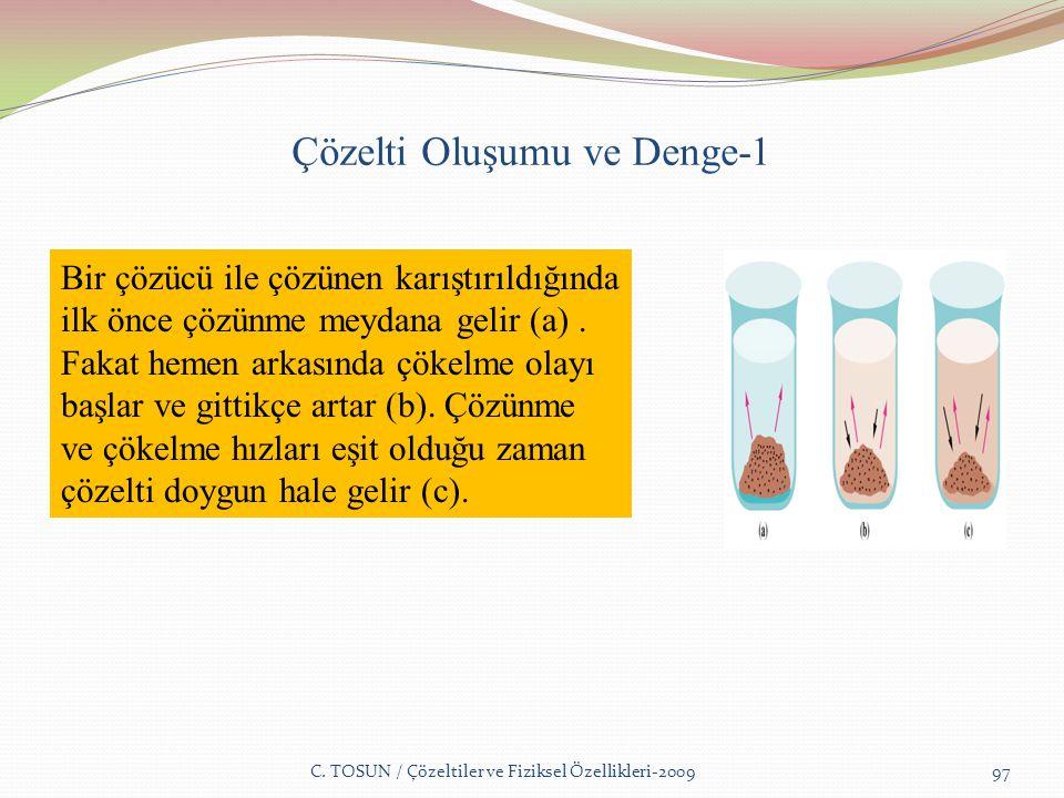 Çözelti Oluşumu ve Denge-1 C.