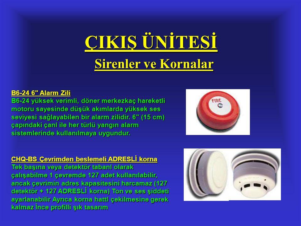 ÇIKIŞ ÜNİTESİ Sirenler ve Kornalar B6-24 6
