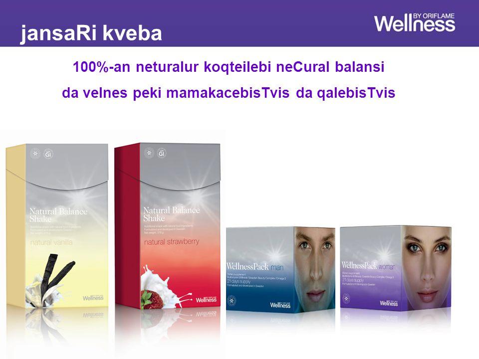 Дополнительное питаниеОсновное питание jansaRi kveba 100%-an neturalur koqteilebi neCural balansi da velnes peki mamakacebisTvis da qalebisTvis