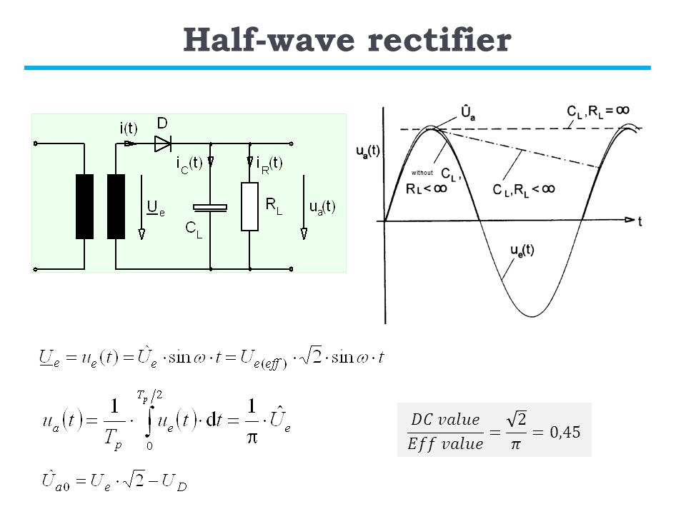 Half-wave rectifier without