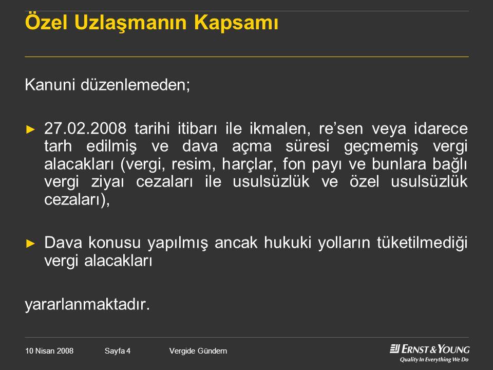 10 Nisan 2008Vergide GündemSayfa 225 Ticari Kar- Mali Kar ► Türk Ticaret Kanunu ve Tekdüzen Hesap Sistemi esaslarına göre ticari kar belirlenir.