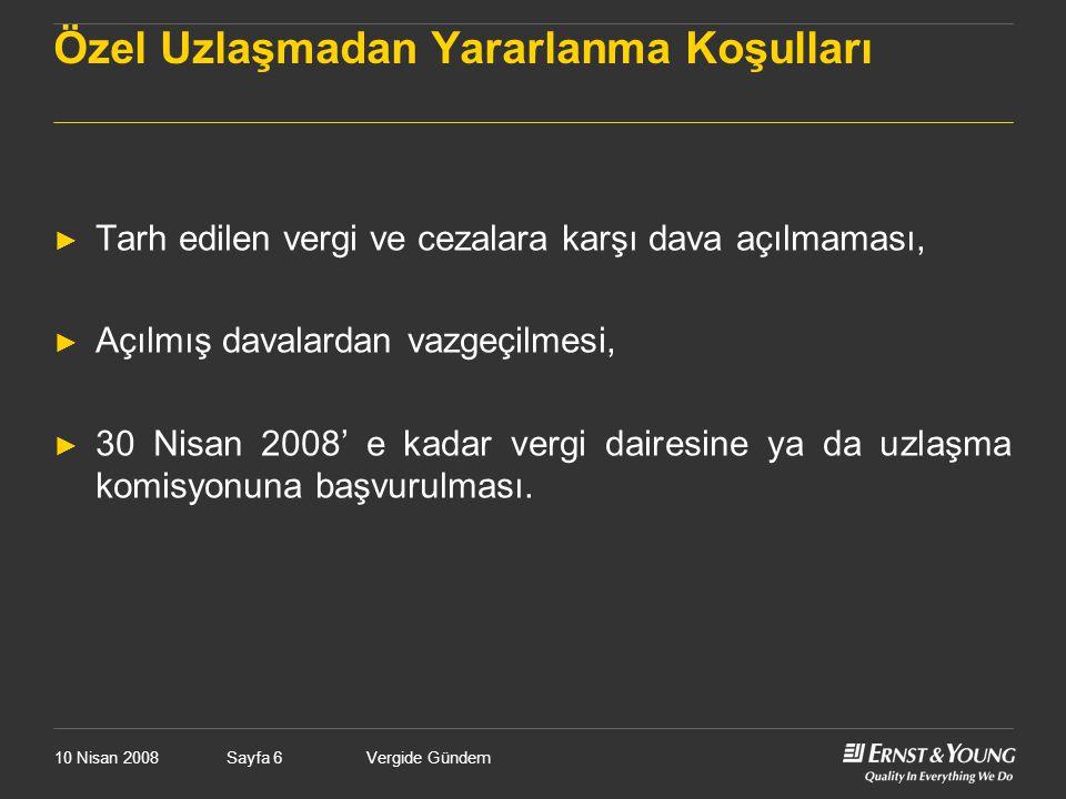 10 Nisan 2008Vergide GündemSayfa 177 Çifte Vergilendirmeyi Önleme Anlaşmalarının Uygulamaya Etkisi ► ÇVÖ Anlaşmaları, CFC hükümlerine göre Türkiye'nin kendi mukimlerini vergileme hakkını sınırlandırmamaktadır.